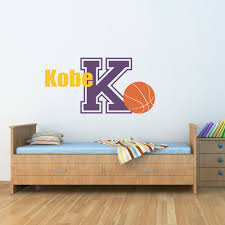 grand custom name initial sports wall decals boychild bedroom wall