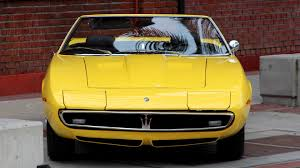maserati yellow 1969 maserati ghibli spyder motor1 com photos