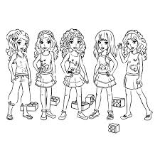 6 images of friendship coloring pages to print lego friends