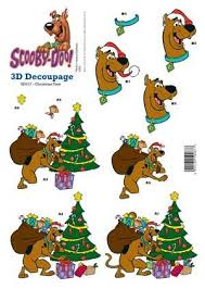 scooby doo wrapping paper christmas tree 3d scooby doo decoupage 0 75 a great range of