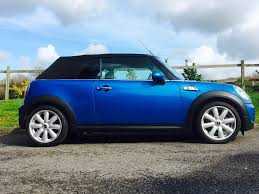 paul has chosen this 2009 mini convertible cooper s laser blue