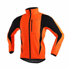 fluorescent cycling jacket arsuxeo men s winter thermal fleece soft shell cycling jacket mtb