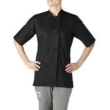 Womens Aprons Women U0027s Short Sleeve Primary Cloth Knot Button Chef Jacket 4460