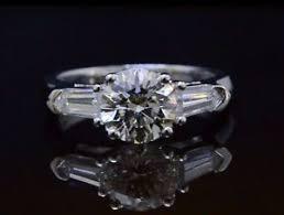 bullet wedding rings 1 50ctw cut w bullet side stones engagement