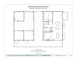 Barn Floor Plans Blue Ridge Barn Model A