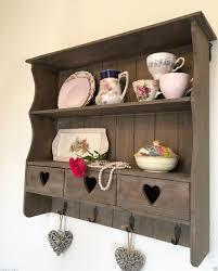 shabby chic wall shelf unit