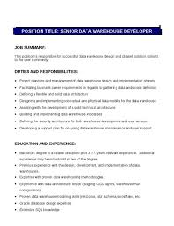 Inventory Analyst Cover Letter Data Warehouse Analyst Cover Letter