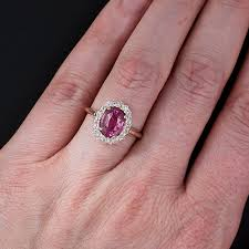 natural sapphire rings images Pink sapphire ring in oval cut from gemone diamonds online for sale jpg