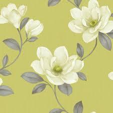 Magnolia Wallpaper by Sophie Conran Magnolia Cream U0026 Green Flower Wallpaper