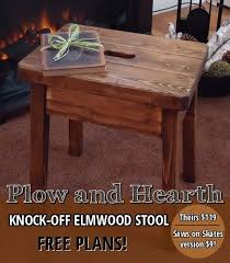 Woodworking Stool Plans For Free by Knockoff Plow U0026 Hearth Elmwood Stool Hometalk