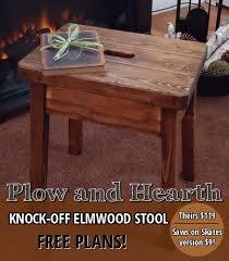 knockoff plow u0026 hearth elmwood stool hometalk