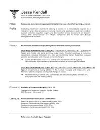 Resume Samples Skills by Certified Nurse Aide Sample Resume No Objection Certificate Sample