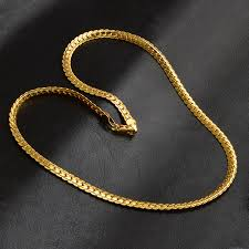 trendy gold chain necklace images 5mm 20inch vintage long chain for men women necklace new trendy jpg