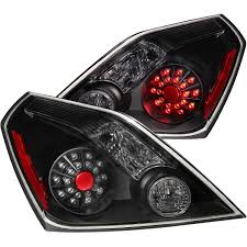 nissan altima headlights anzo usa nissan altima 08 13 2dr l e d tail lights black