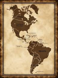 Map North And South America by A Map North And South America U2014 Stock Photo Lina0486 10228184