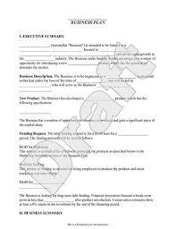 free business plans templates one page business plan template 4