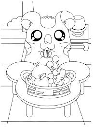 hamtaro oxnard eat watermelon seeds hamtaro coloring pages