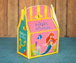 personalized party favors mermaid treasure chest personalized party favor box
