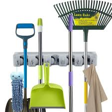 garage storage systems amazon com storage home organization newdora mop broom holder broom organizer key rack towel hooks 5 non slip with 6 hooks wall closet mounted organizer brooms mops rakes garage storage