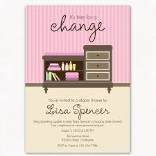 diaper baby shower invitation changing table time for a