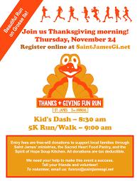 Saint Thanksgiving Erm Thanks Giving Fun Run