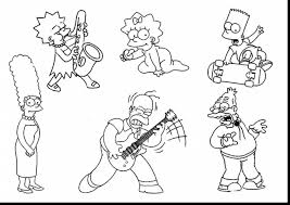 coloring pages the simpsons family funny coloring