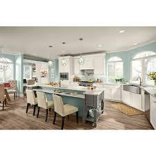 kraftmaid dove white kitchen cabinets kraftmaid deveron 15 in x 15 in dove white painted maple shaker cabinet sle