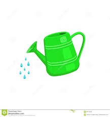 watering can gardening tools clipart collection