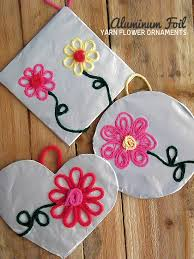 aluminum foil yarn flower ornaments yarn flowers flower
