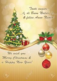 italian seasons greetings winter greeting card merry