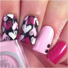 valentine day nail art designs