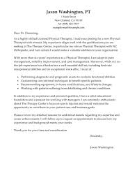 Example Of Resume And Cover Letter by Best Physical Therapist Cover Letter Examples Livecareer