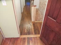 Laminate Floor Door Threshold Reclaimed Flooring Chad U0027s Crooked House