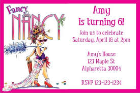 fancy invitations fancy nancy party invitation personalized party invites