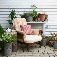 Country Outdoor Furniture by Cosy Country Garden A Mix Of Patchwork Rustic Planters And