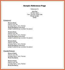 Template For Resume References Professional Reference Template Bio Example