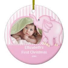 Baby S First Christmas Decoration Uk by Baby Elephant Christmas Tree Decorations U0026 Ornaments Zazzle Co Uk