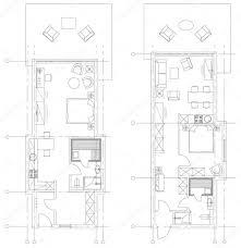 Floor Plan Furniture Symbols Standard Living Room Furniture Symbols Set U2014 Stock Vector Yazzik