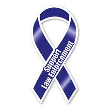 blue support ribbon support enforcement blue ribbon magnet magnet america