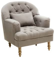 Beige Club Chair Nelson Tufted Fabric Arm Chair Contemporary Armchairs And