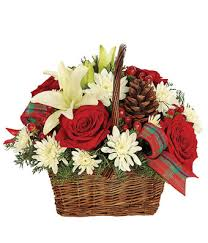 christmas basket rustic christmas basket at from you flowers