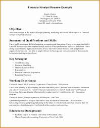 financial analyst resume brilliant financial analyst resume summary exles for your sle