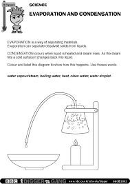 bbc science worksheet evaporation and condensation the