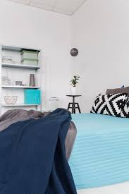 relaxing colours cosy bedroom in relaxing colours stock image image of apartment