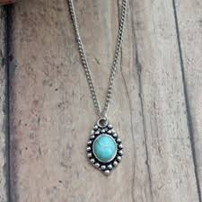 simple turquoise necklace images Western style necklace cowgirl jewelry cattle kate jpg