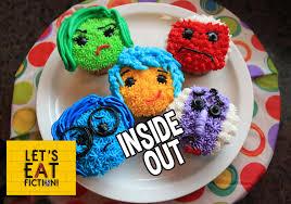 inside out cakes inside out cupcakes disney pixar let s eat fiction