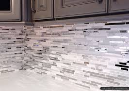 glass backsplash tile brown metal modern kitchen backsplash tile