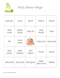 photo baby shower bingo blank image