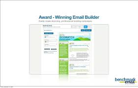 html email template design from benchmark email