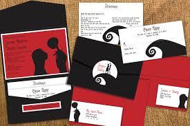 stirring nightmare before christmas wedding invitations